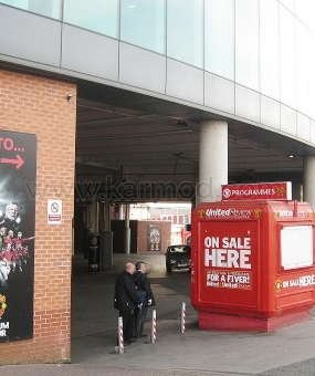 Kioski UK Manchester Old Trafford ja Camp Nou