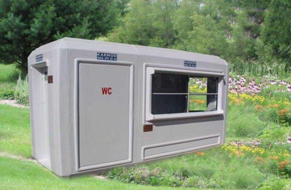 150X390 Kannettava WC&Turvallisuus Hytti