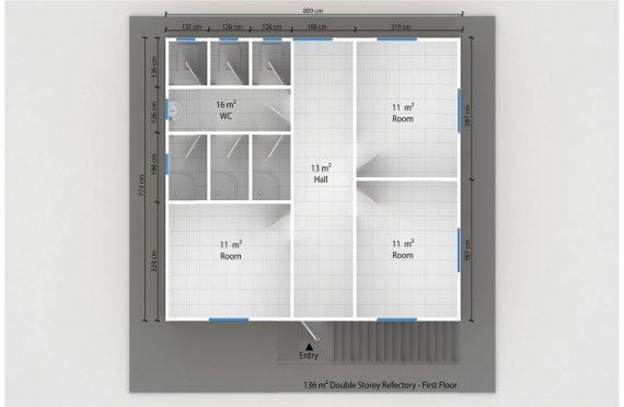 Esivamistettu Kaupallinen Keittiö 136 m²