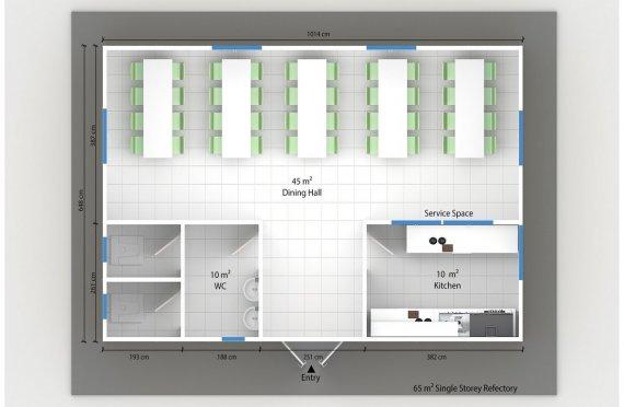 Esivamistettu Kaupallinen Keittiö 65 m²