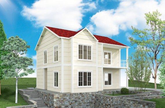 Esivalmistettu Talo Huvil 132 m²