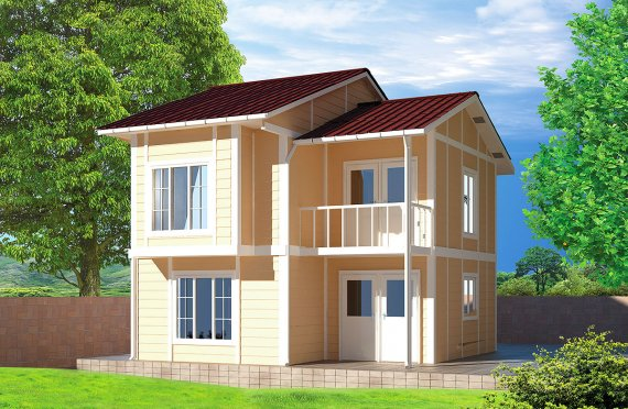 Esivalmistettu Talo 91 m²