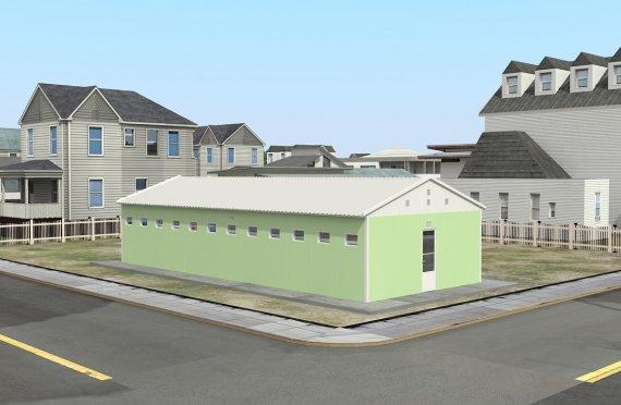 Esivalmistettu Wc & Suihku Rakennukset 97 m²