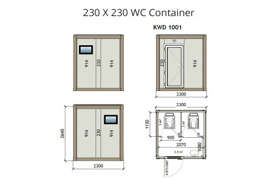 KW2 230X230 WC Kontti