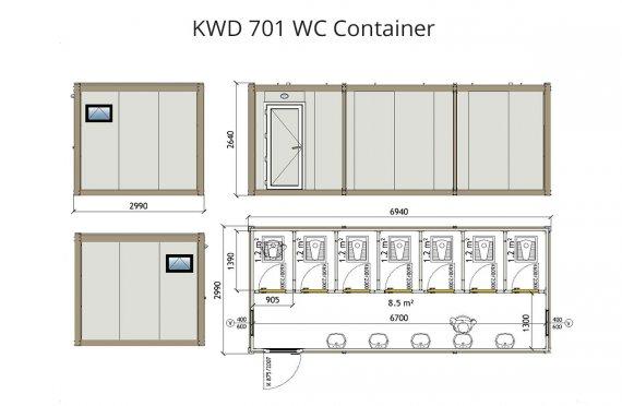 KWD 701 WC  Kontti