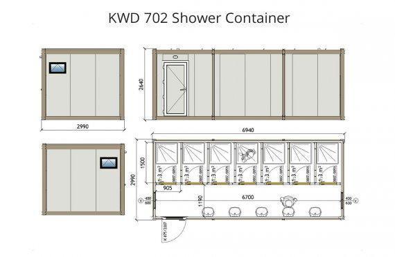 KWD 702 Suihku  Kontti