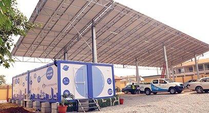 Karmod uuden sukupolven konttia käytetään aurinkoenergian varastoinnissa Nigeria