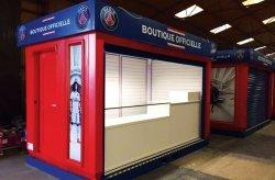 Karmod tuottaa PSG-myymälä kioskeja